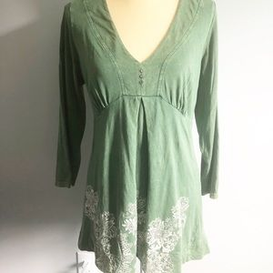 Emerald Live & Let Live dress, green size L